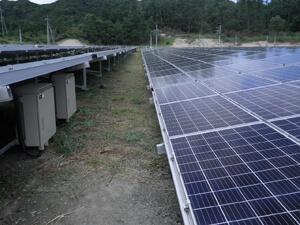 太陽光発電施設の草刈りの実例 草刈り後