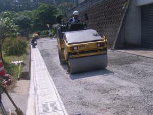 舗装工事施工写真1