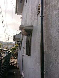 空き家解体前の裏口