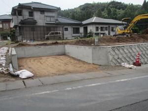 駐車場工事 完成1