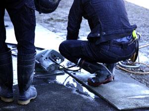 工事での床付け検査