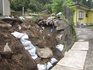 大雨災害 外構工事 大雨災害後1