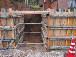 外構工事 型枠3