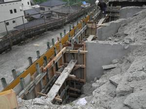 古民家の外構工事作業