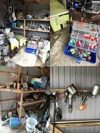 納屋 釣り具 工具類