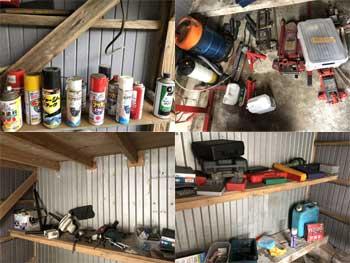 納屋 スプレー缶 工具類