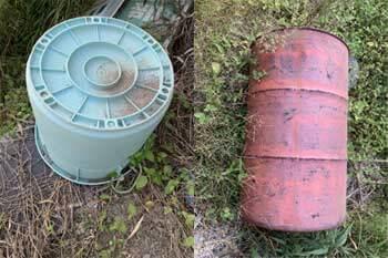 ドラム缶 ゴミ箱 回収