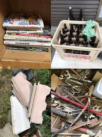 日用品 本 空きビール瓶 プランター 工具類
