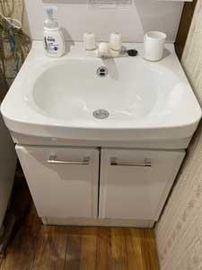 古民家の洗面台の入れ替え2